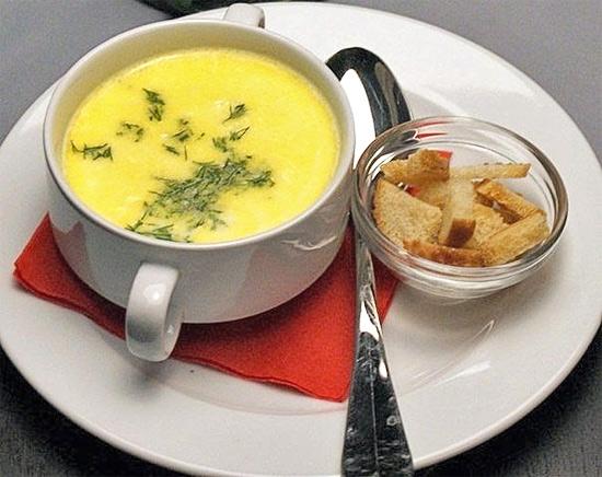 Сырный суп с джином